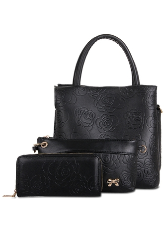 bag tote bag zaful embroidered black leather urban classy clutch leather tote bag