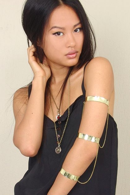 zouzouvintage - ZOEY CHAINED TRIPLE ARM CUFF