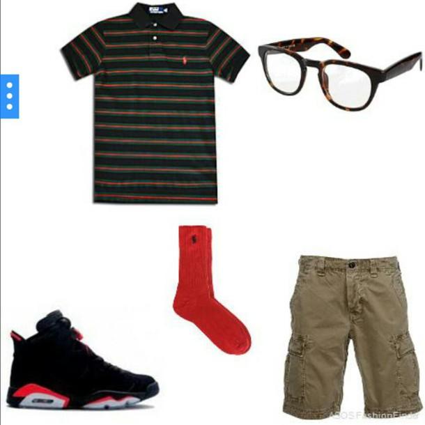 f9da4fb3637 shorts, cargo khaki pants, polo shirt, jordans, mens polo, mens ...