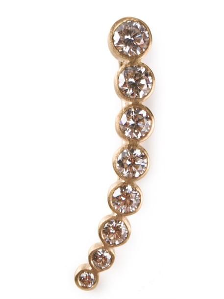 Sophie Bille Brahe cuff women ear cuff gold yellow grey metallic jewels
