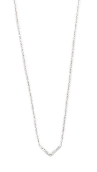 mini clear necklace gold white chevron jewels
