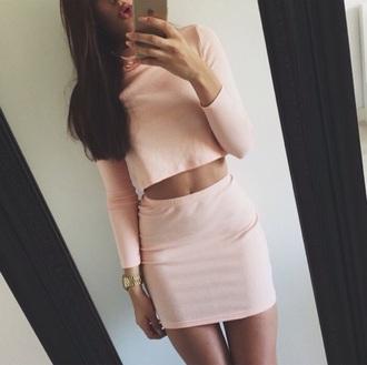 skirt pink pink skirt feminine fashion tumblr outfit shirt