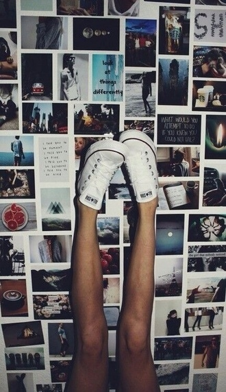 shoes converse low tops converse low top sneakers white white converse chuck taylor all stars all star fashion black shoes black grunge flat home accessory wall paper