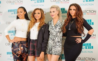 shorts little mix jade thirlwall plaid shorts black blazer jesy nelson perrie edwards leigh-anne pinnock shirt