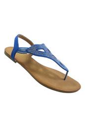 shoes,blue blingy sandals,sandals,thong