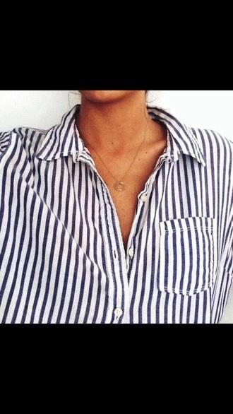 shirt blue white stripes
