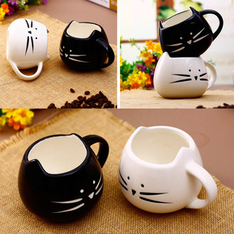 home accessory mug cute cats trendy gift ideas tumblr girly yin yang black and white