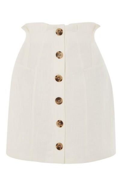 Topshop skirt mini skirt mini cotton