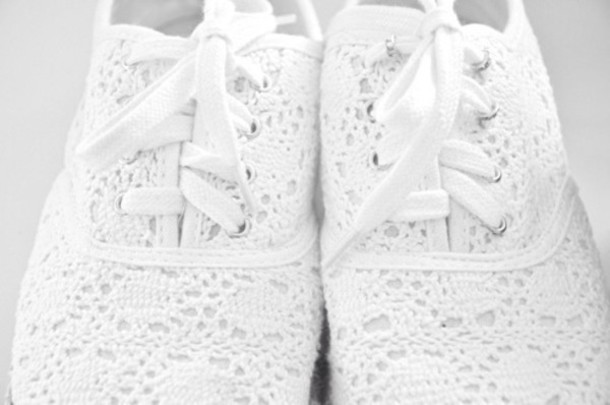 Shoes White Crochet Sneakers Wheretoget