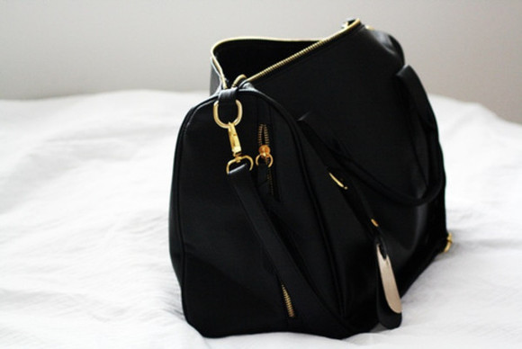 bag black bag gold