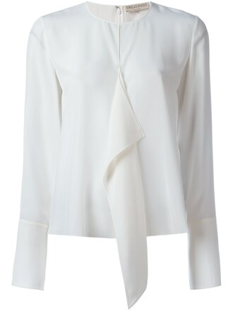 blouse ruffle white top