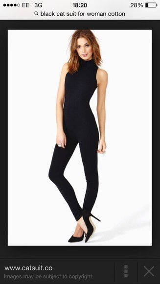jumpsuit romper dress black bodycon dress catsuit black spicegirls victoriabeckam
