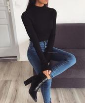 shirt,black,sweater,top,turtleneck
