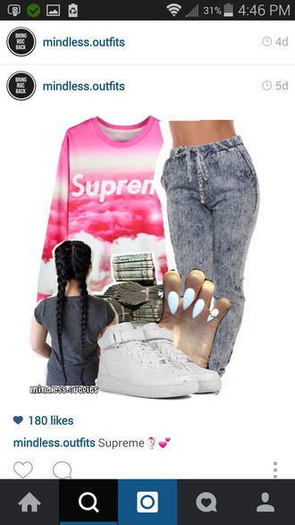 pants joggers joggers pants jogger pants stylish style supreme sweater swag girl jeans girly