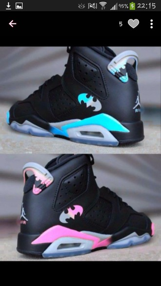shoes pink blue batman jordans nike black silver white girl boy