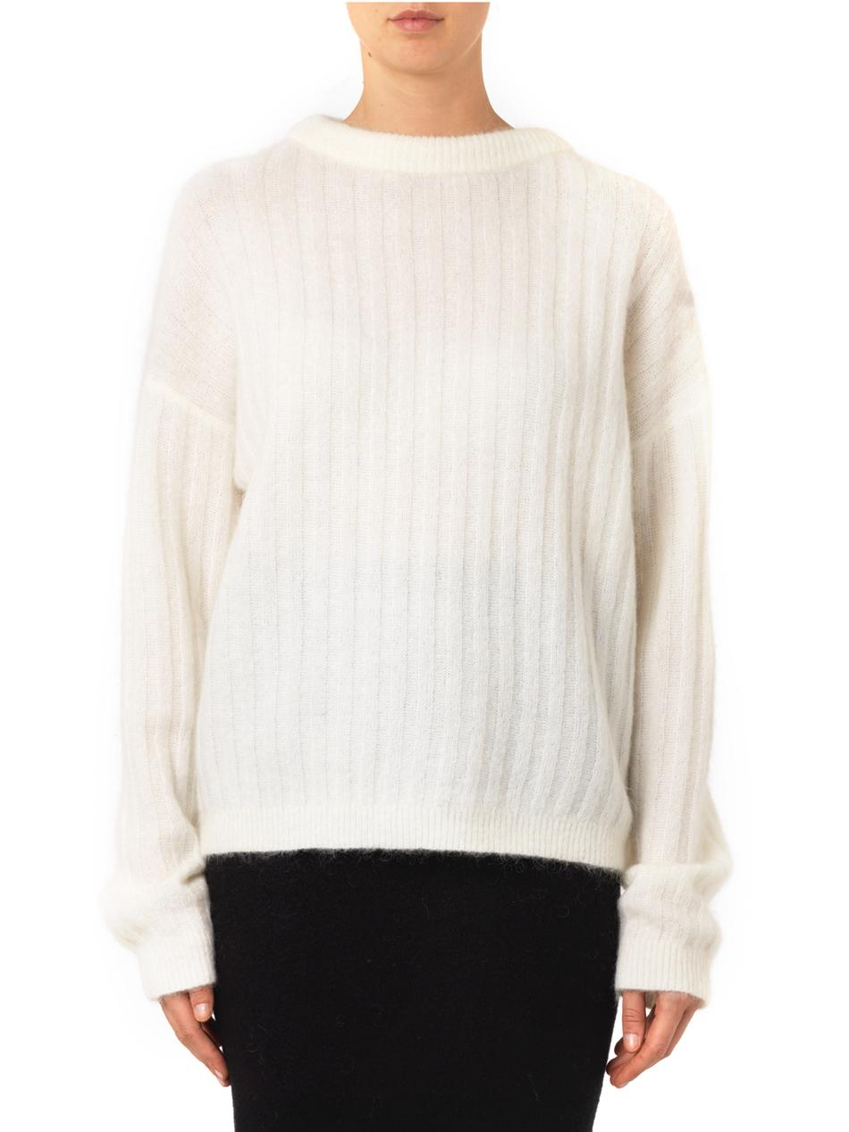 Dramatic ribbed-knit sweater | Acne Studios | MATCHESFASHION.COM