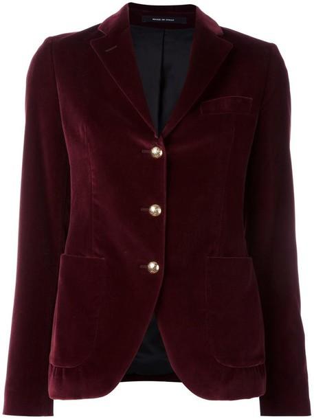 TAGLIATORE blazer women cotton purple pink jacket