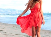 dress,red,pink,summer,cool,clothes,i really need this beautiful dress
