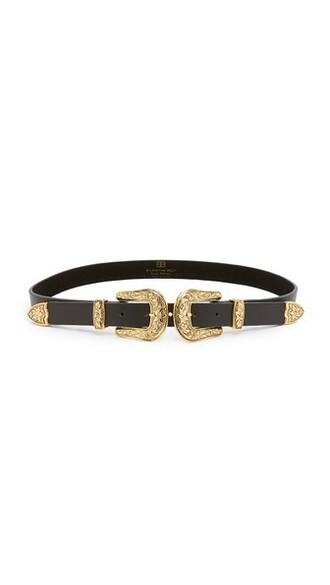 baby belt gold black