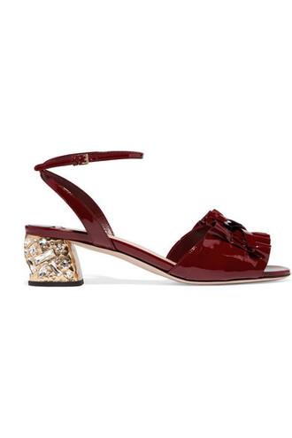 embellished sandals leather sandals leather burgundy shoes