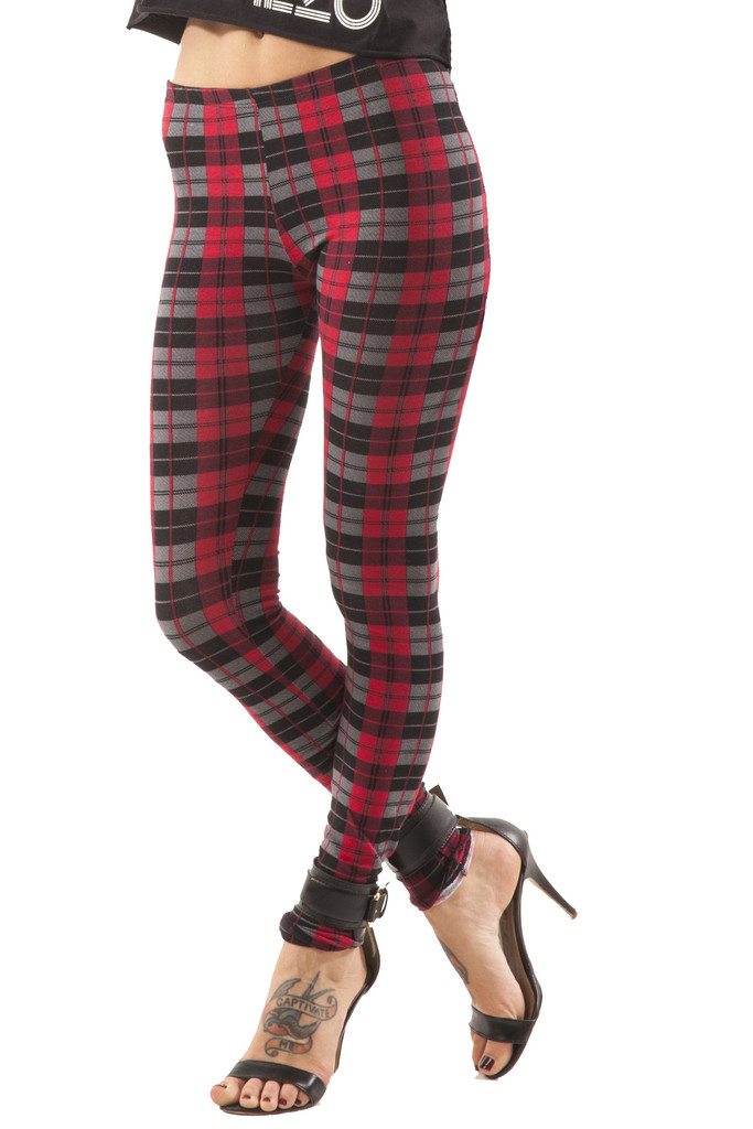 Rebel Plaid Leggings – Wunderlust