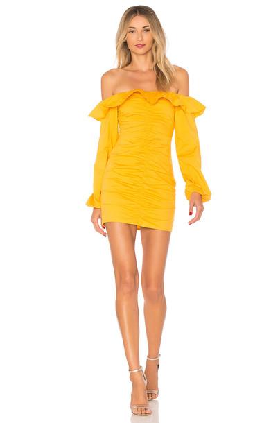 TULAROSA dress yellow