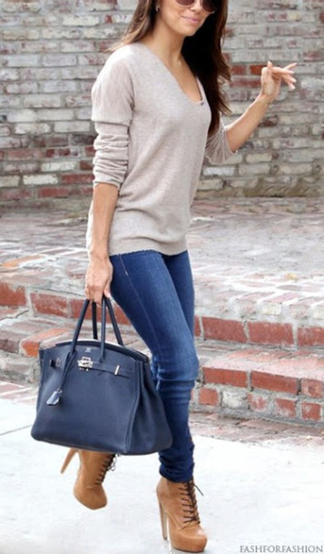 shoes hermes bag jeans bag blouse sweater shirt everything