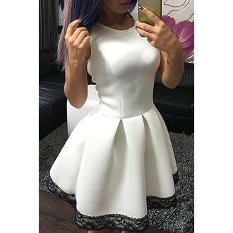 dress white girly cute fashion style trendy summer rose wholesale-ap trendsgal white dress sleeveless sleeveless dress
