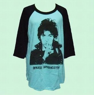 shirt raglan shirt baseball shirt bruce rock shirt women tee men tshirt baby blue shirt blue shirt baseball tee mens t-shirt