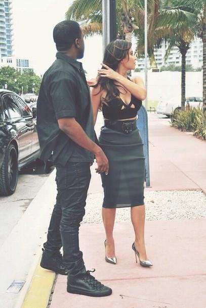 skirt sheer skirt kim kardashian kanye west blouse shoes