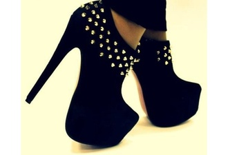 shoes heels high heels spiked shoes spiked heels black shoes black high heels