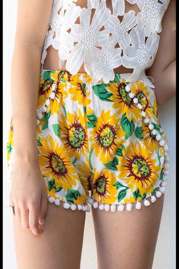 shorts sunflower