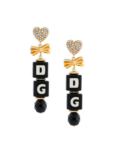 Dolce & Gabbana women earrings black jewels