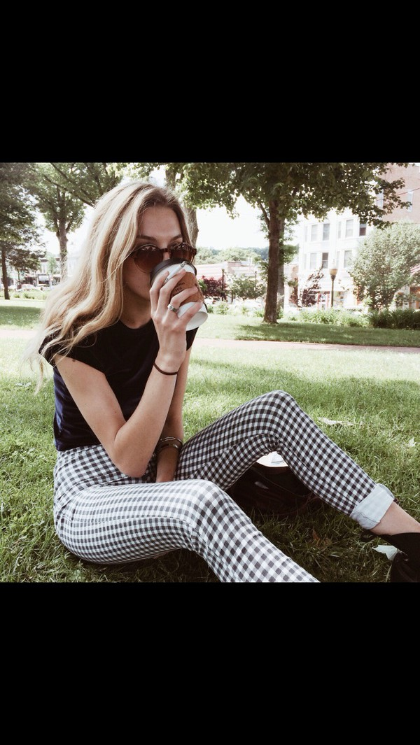jeans high waisted jeans checkered