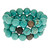 Krystal Sasso Turquoise with Crystal Ball Bracelet Set - Max and Chloe