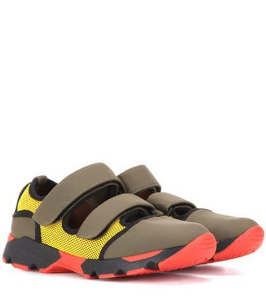 MARNI sneakers neoprene green shoes