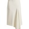 Morpeth asymmetric crepe midi skirt