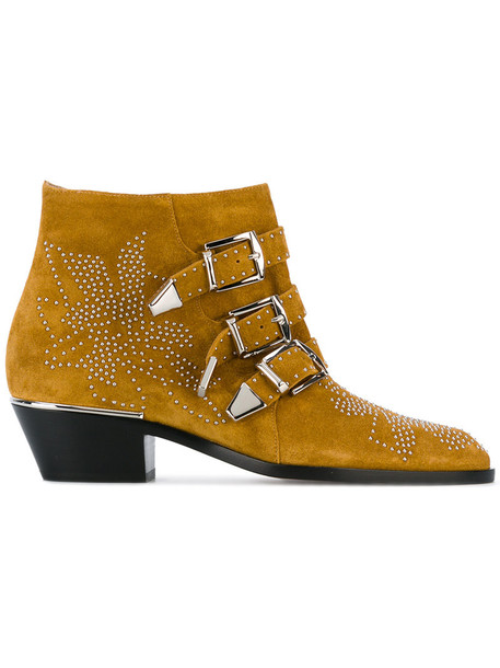 women booties leather suede yellow orange shoes