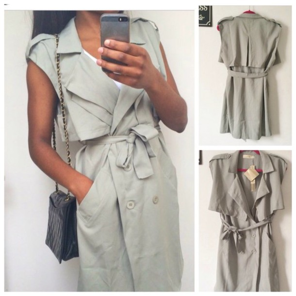 coat trench coat for women sleevless coat