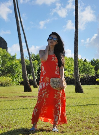 goodbadandfab blogger dress sunglasses bag shoes red dress maxi dress