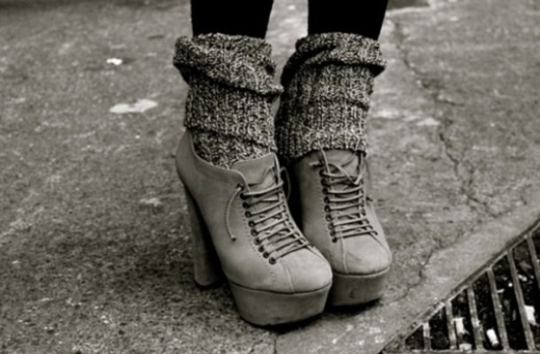 shoes heels grey shoes high heels underwear platform shoes ankle boots socks grey laces shoes.grey grey leg warmers fashion style boots lace up heels booties ankle heels knitted socks grey boots