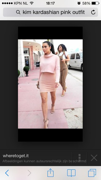 kim kardashian cream high skirt