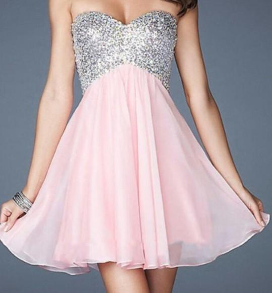 prom dress sequin dress homecoming dress semi-formal sequins