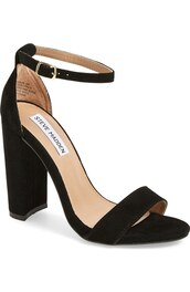 shoes,block heel sandals,steve madden,black shoes,black sandals,high heels,block heels