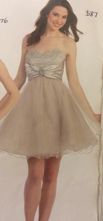 dress short silver dress