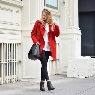 the vogue word blogger red coat