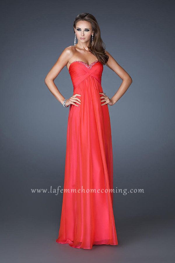 la femme dresses watermelon prom dress