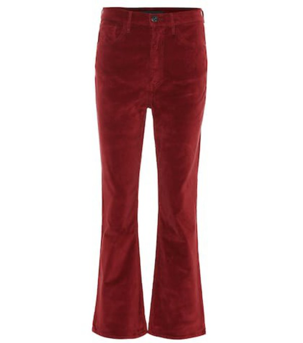 3x1 W5 Empire high-rise flared jeans in red
