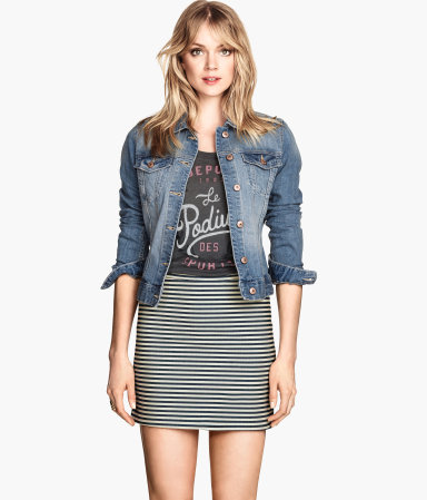 H&m striped skirt $24.95