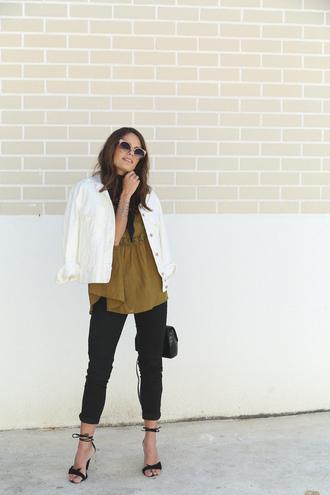 seams for a desire blogger jacket top jeans shoes bag sunglasses